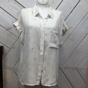 Rails Flamingo Button Down Shirt